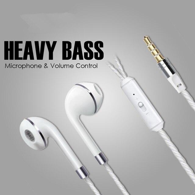 M&J In-Ear Earphone For iPhone 7 6s 5 Xiaomi Hands free Headset Bass Earbuds Stereo Headphone For Apple Earpod Samsung earpiece