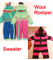 2015 newborn Baby sweater romper infant winter clothing striped outerwear sweaters clothes free shipping