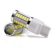2 шт. T20 7443 W21 5 Вт 33 SMD 5630 5730 светодио дный Автомобильный стоп-сигнал сзади хвост лампы авто DRL дневные ходовые огни поворотника