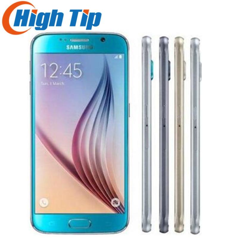 Samsung Galaxy S6 G920F S6 Rand G925F G925P Original Entsperrt Handy Octa Core 32 gb ROM 16MP 5,1