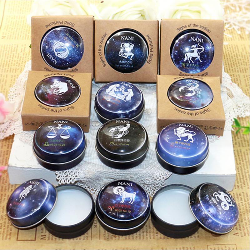 Universal 12 Constellation Solid Perfume Portable Skin Care Balm Deodorants Antiperspirants Women Men Body Romantic Fragrance