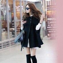 Newly Women Lady Cloak Poncho Coat Loose Fashion Outwear Medium Length Clothing For Winter
