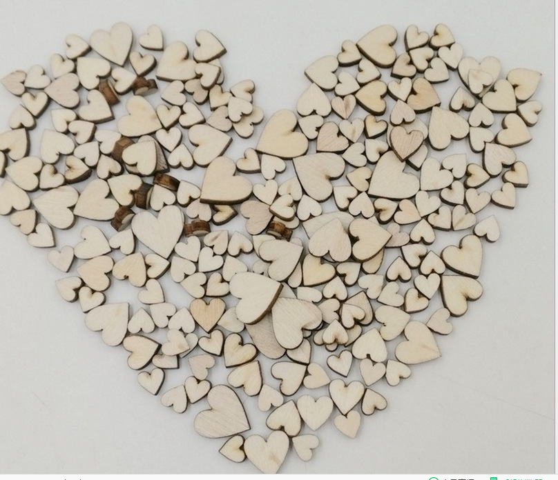 New Arrival Fashion 10mm 20mm 30mm 40mm <font><b>50mm</b></font> Heart Wood <font><b>Buttons</b></font> DIY Scrapbooking Sewing image