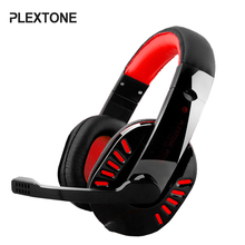 PLEXTONE PC750 Over-ear Gaming Headphones Stereo Bass Headsets with Super Shocking Sound Noise Canceling Mic for PC Games