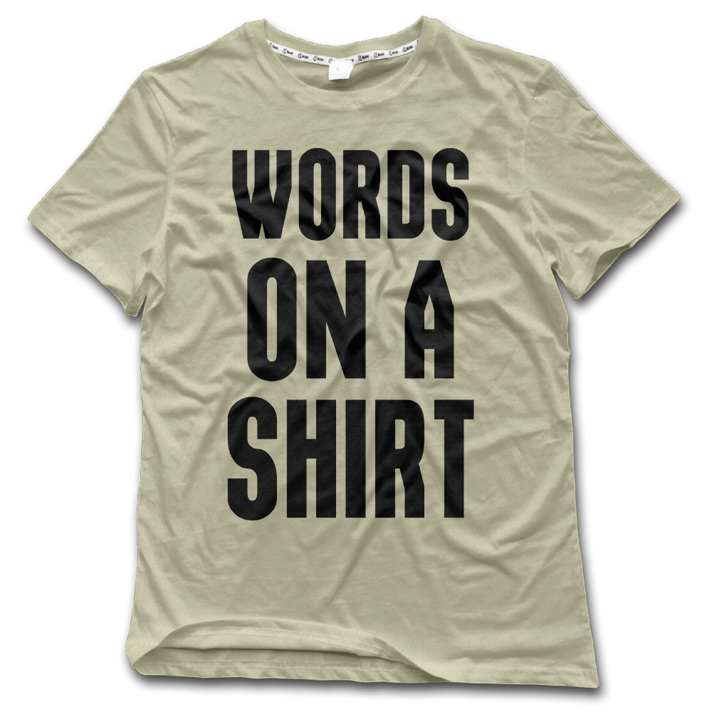 Shirt design words