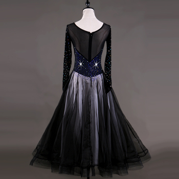 Lady Modern Dance Dress Female Diamond Dancing Competition Dress Female Waltz Ballroom Dancing Female Waltz Tango Dress D-0159