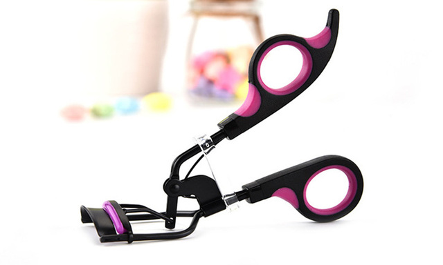 JHXYMYYXGS 1PC Handle Curl Eye Lash Cosmetic Makeup Eyelash Curler Curling Tweezers Tools . 1
