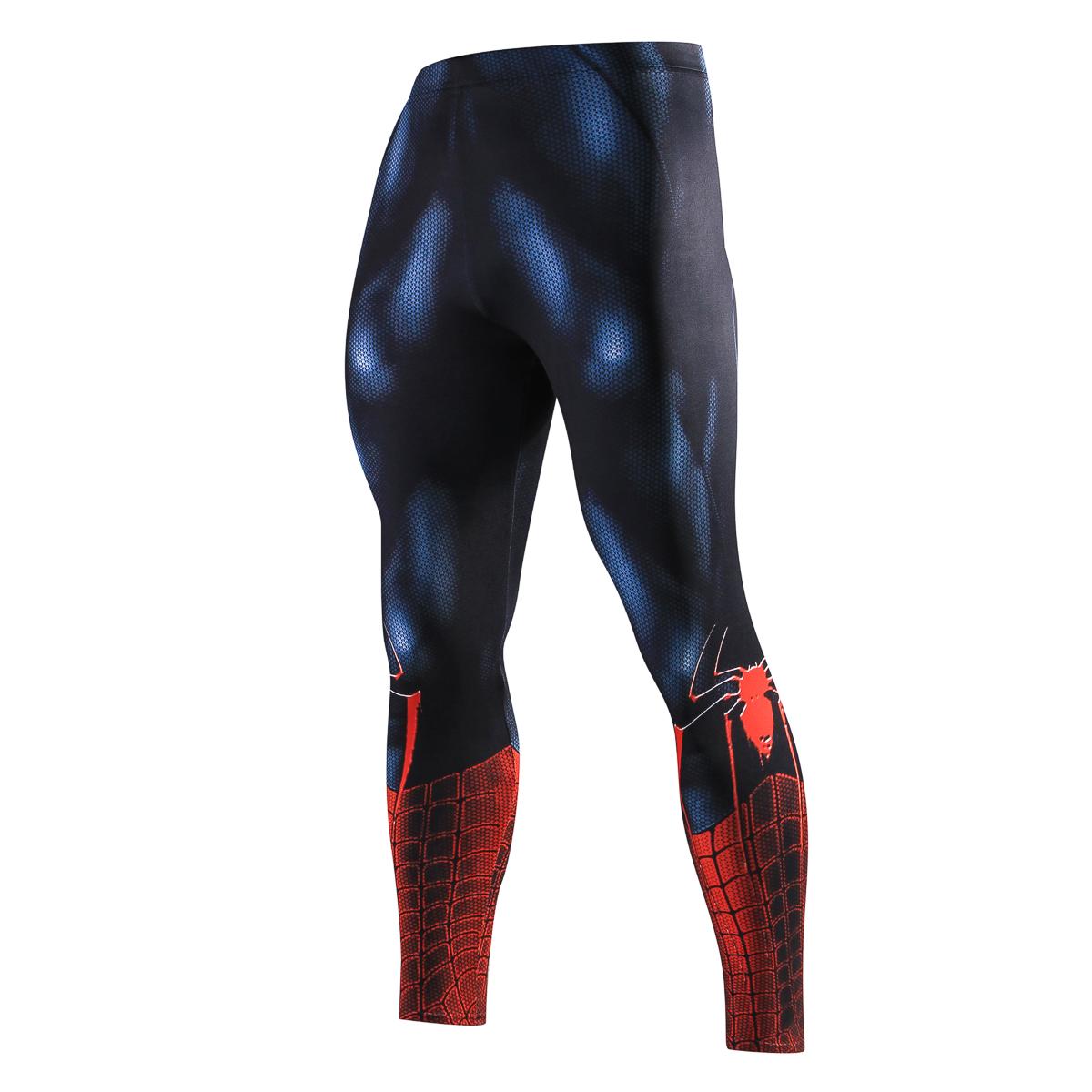 c2bef600e Men Skinny Compression Pants Superman Spiderman Iron Man Batman Leggings  Sweatpants 3D Fitness Bodybuilding Elastic Trousers