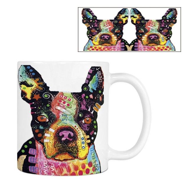 Fashion Boxer Bull Boston Coffee Mugs Funny Dogs White Ceramic Creative Animal Tea Mug Customize Birthday Gifts For Kitchen Home