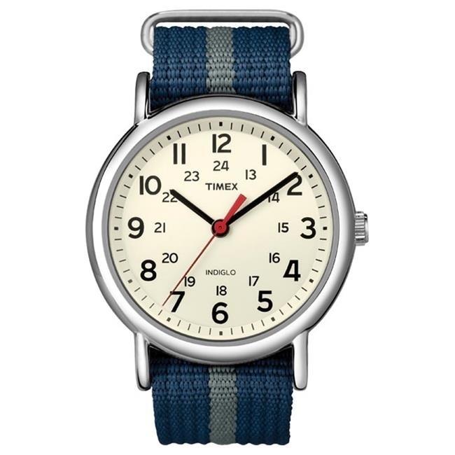 Timex 379146 Timex Weekender Slip-Thru Watch Black timex timex t2m758