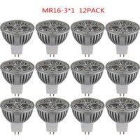 12p High Power Cool White LED Bulb Lamp 3 4W AC DC 12V 6V 24V MR16