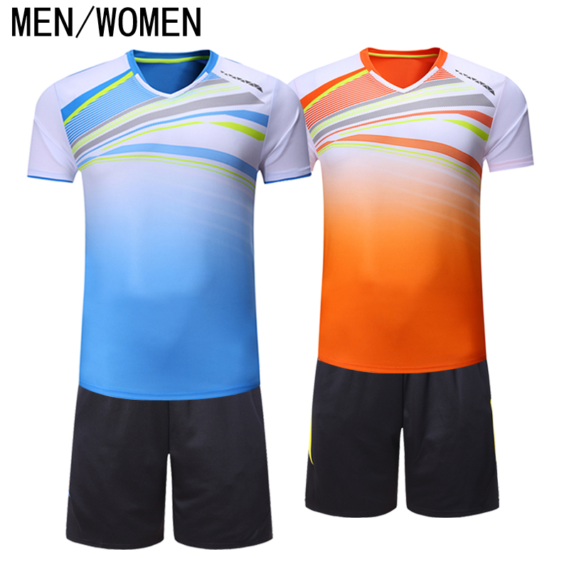Sports, breathable, dry shirts, badminton, mens and womens table tennis competitions, team training