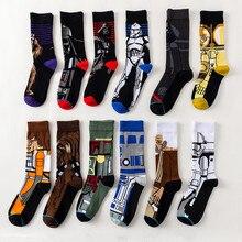 12 Pairs / Pack Comics Star Wars Jedi Master Yoda R2-D2 C-3PO Wookiee Cosplay Socks