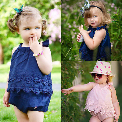 Newborn Baby Girls Lace Dresses Jumpsuit Romper Cotton Clothes newborn baby girl clothes baby girl romper Creepers Coveralls