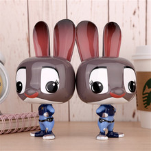 Portable Cartoon Zootopia Judy Hopps Power Bank Battery 10000 mAh Charger USB For Iphone 6 6S Plus SE Samsung Android Phones