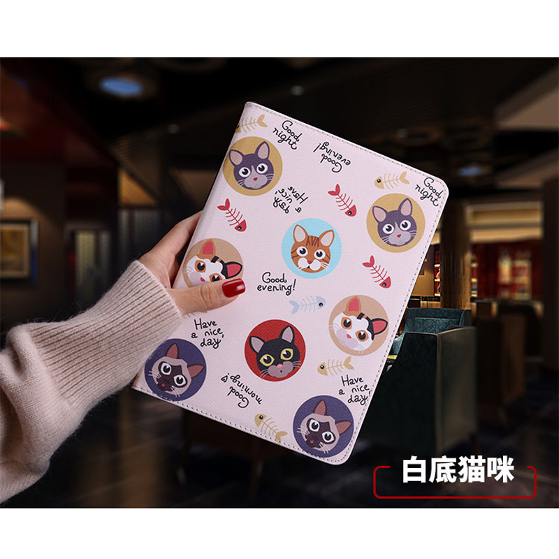 Case For Apple iPad Air 3 10.5 Inch Leather Cover Cartoon Cat Lntelligent Sleep Stand For iPad Pro 10.5 Flip Cover Case