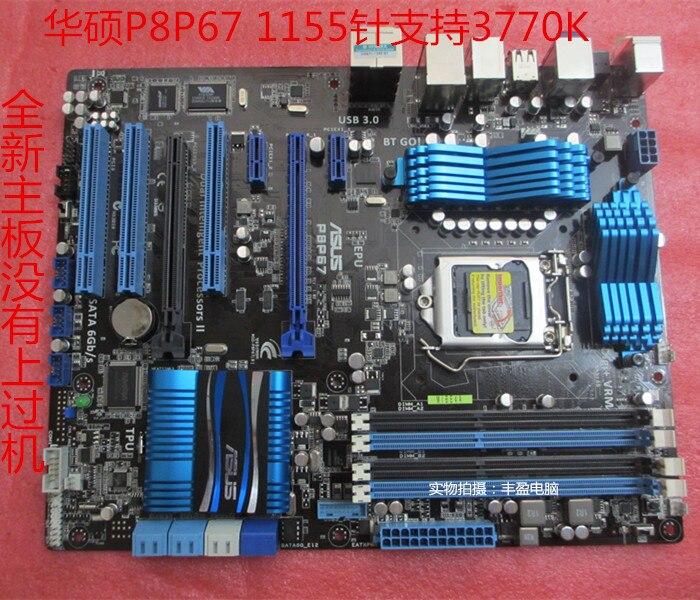 Livraison gratuite origine carte mère ASUS P8P67 LGA 1155 DDR3 pour I3 I5 I7 32nm USB2.0 USB3.0 SATA3.0 de bureau carte mère