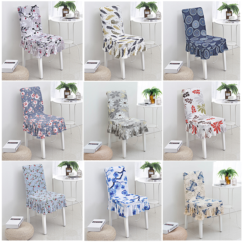 New stretch flower chair cover housse chaise funda silla - Fundas silla comedor ...