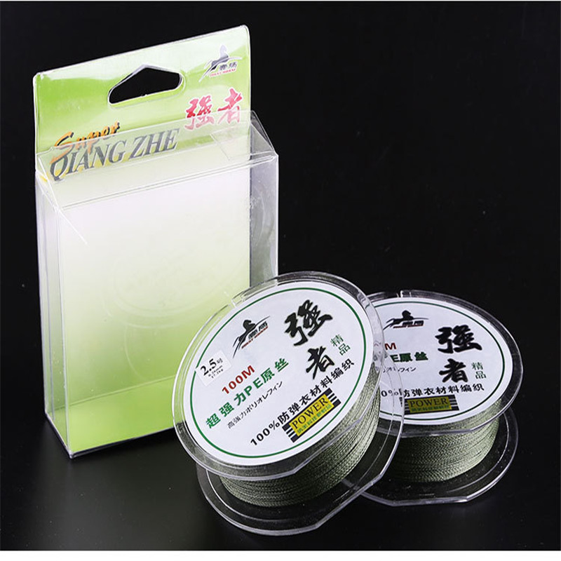 Super Rally 100mBraided Line For Fishing Gear 4strands PE Carp For Fly Fishing Wire Saltwater Fluorocarbon Fishing Line 0.2-8.0#