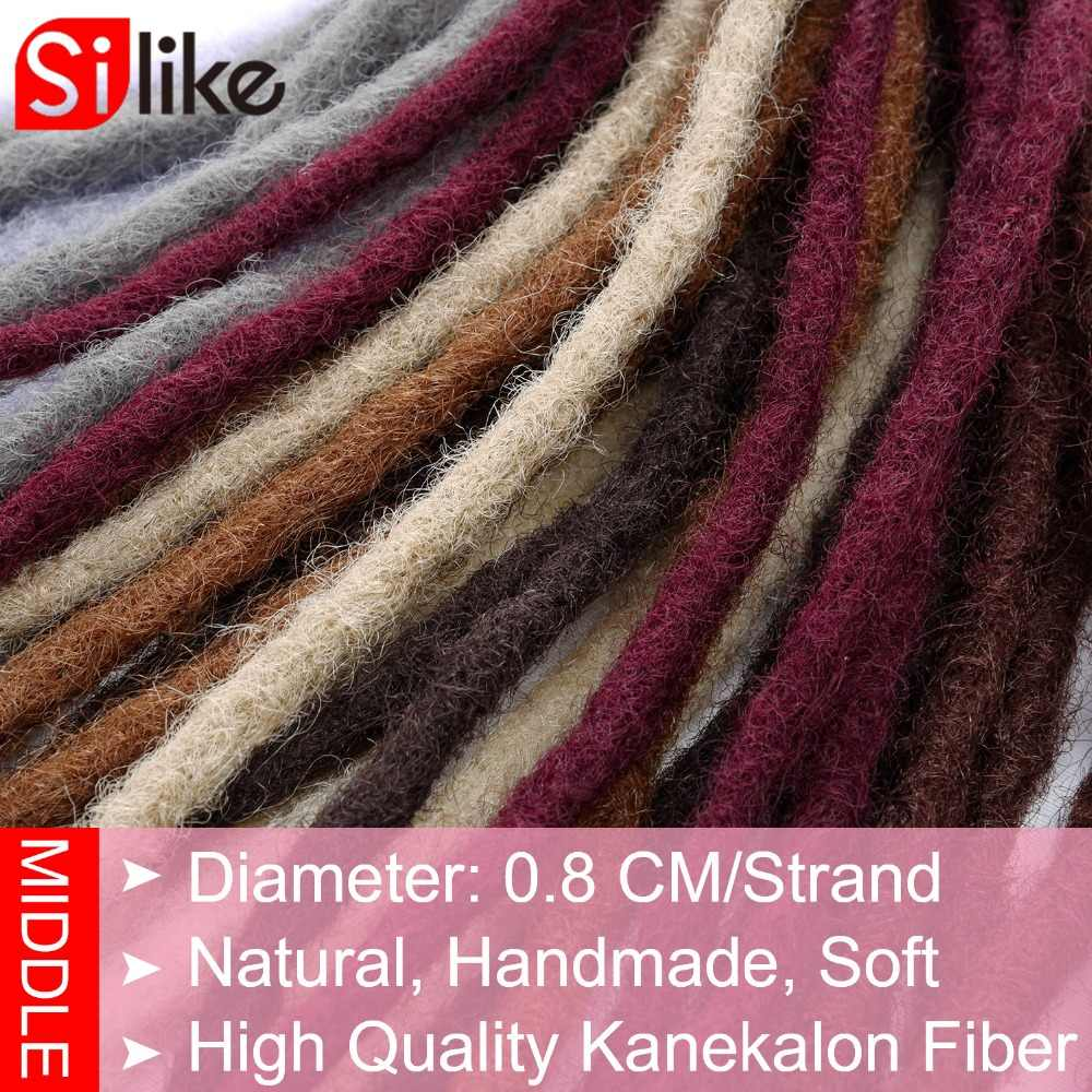 Silike синтетический постоянный замок для наращивания волос 20 ''5 прядей \ Упаковка 9 чистый цвет можно отрезать крючком оплетка волос для женщин
