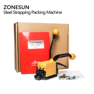 Image 5 - ZONESUN Portable A333 Buckle free Steel Strapping Tool Sealless Combination A333 Steel Strap Tool Manual Box Strapping Machine