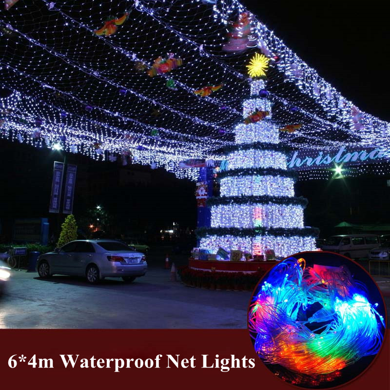Led net lights lantern flasher lamp set 6*4m curtain lights Wedding Christmas New year garden waterproof outdoor lights Lighting ...