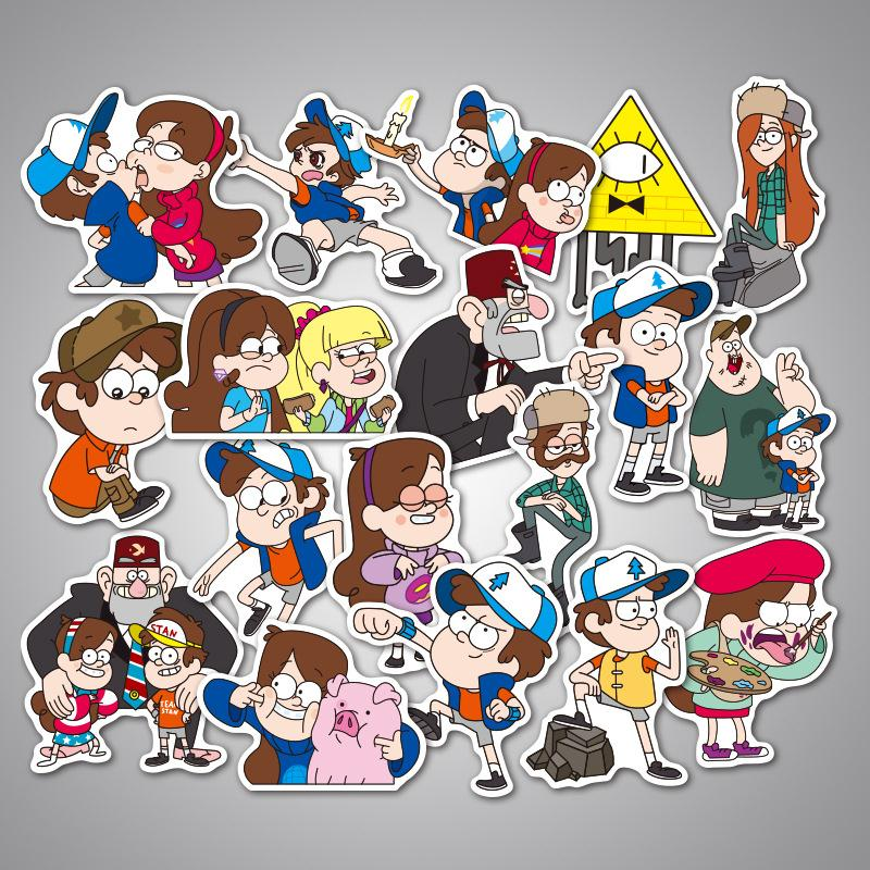 39pcs/Lot Graffiti Gravity Falls Stickers For Laptop Luggage Suitcase Skateboard Adesivi Cartoon Stickers Pegatinas Infantiles утюг braun texstyle ts765a