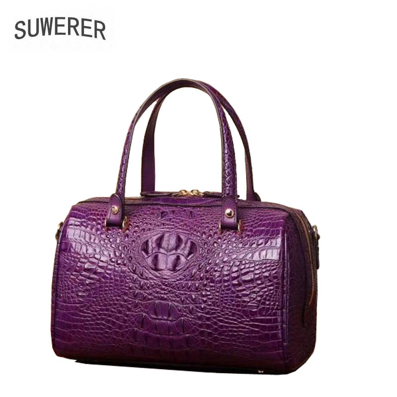 Designer Dames Sac Cuir Luxe Schoudertas Femmes Motif Boston 2019 Purple black Crocodile Nouvelles Véritable Mode De red Suwerer Sacs En blue aA6Ownq