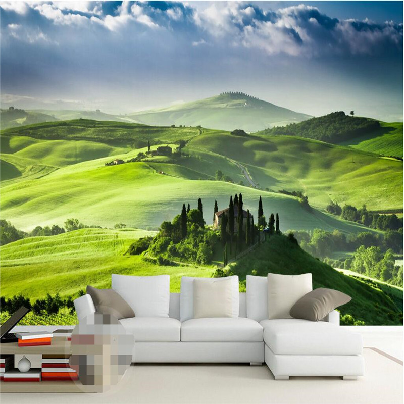 Beibehang Wallpaper Luxury Quality HD Fresh And Natural Beauty Of The Green Hills Covers 3d Large Frescoes Photo In Wallpapers From Home