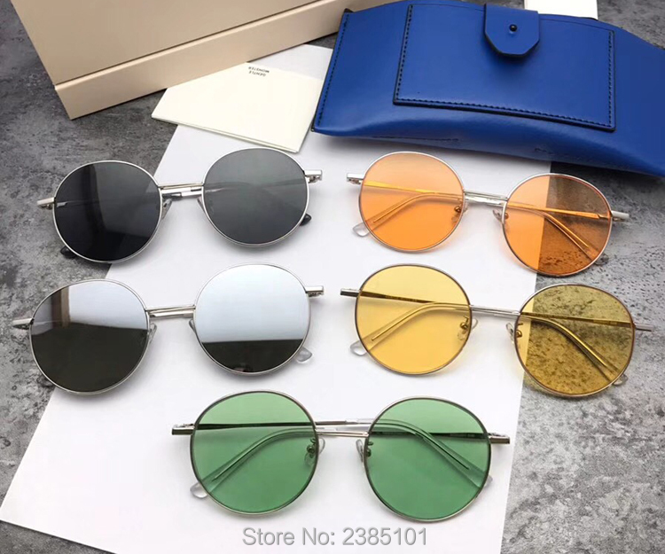2018 Korea Women round Sunglasses Shades Luxury Gentle Brand Designer MIDNIGHT SUN glasses Candy Color Sunglasses Female UV400 2016 new fashion sunglasses women brand designer sun glasses vintage eyewear