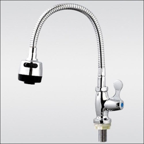 Flexible Kitchen Faucet: Brass Sink Single Cold Kitchen Faucet Flexible Pipe