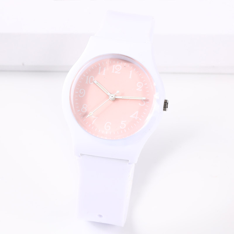 CIOFA Marca Nueva Moda Simple Número Dial Lindo Harajuku Pink Girl's Boy's Children Watch Impermeable Sport Jelly Watch