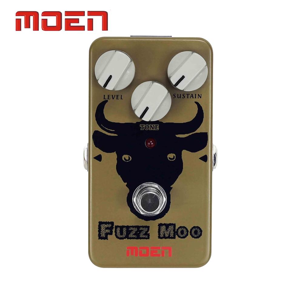 Moen AM-FZ Pedal Fuzz Moo Electric Guitar Effect Pedal True Bypass Design mooer blue faze fuzz pedal electric guitar effect pedal true bypass mfz1