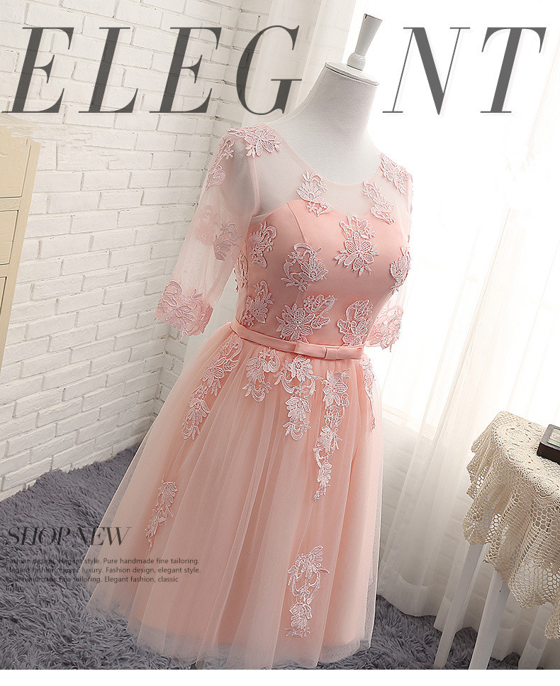 Cy7078 Ping Red Long Lace Up Bridesmaid Dresses Wedding Party Dress 2018 Perform Prom Gown Whole Fashion China In From