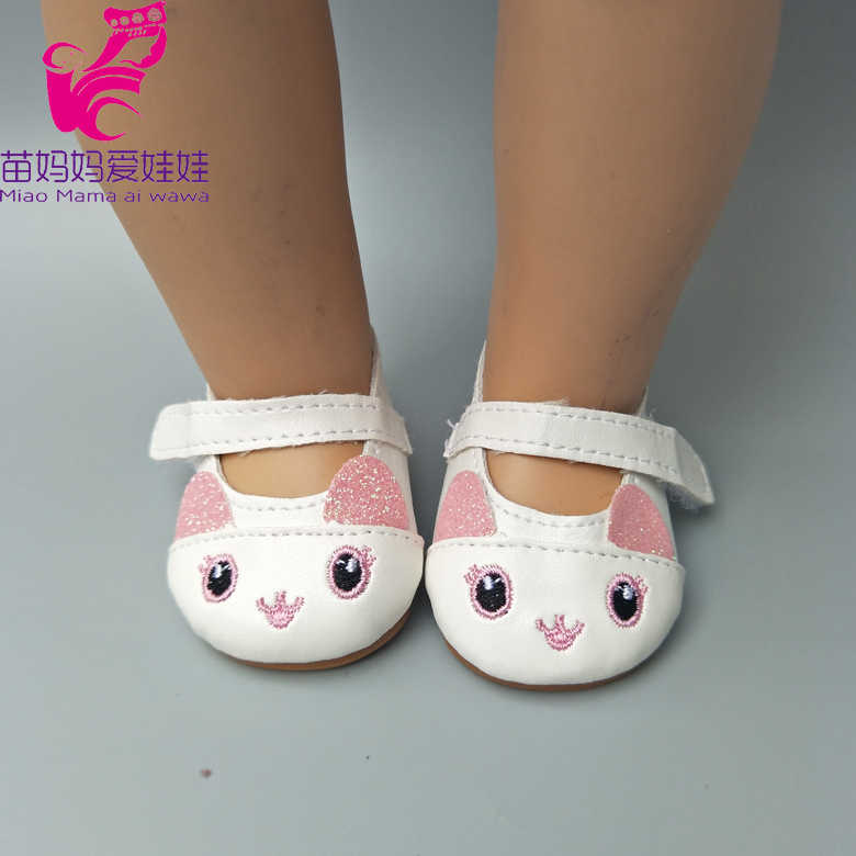 Doll Shoes for 43cm Newborn Baby Dolls Shoes for Reborn Bebe Doll Shoes 18 Inch Girl Doll Cute Shoes