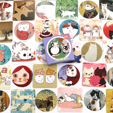 46 PCS/box New Cute Colourful cat Paper Lable Stickers Crafts And Scrapbooking Decorative Lifelog Sticker DIY Lovely Stationery