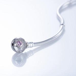 Image 3 - Браслет с розовым фотоэлементом, браслеты из серебра 925 пробы JCL002