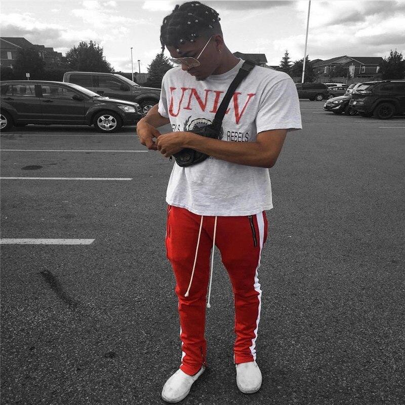 HTB1N5gUasfrK1Rjy1Xdq6yemFXak 2019 Mens Zipper Pocket Anke Zip Track Pants Long Dawstring Sweatpants Side Striped Patchwork Casual Retro Trousers Man Pants