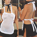2016 New Uniform For Women Sexy Costumes Maid Clothing Erotica Sexy Woman Body Stocking Sex Underwear White Lingerie Hot