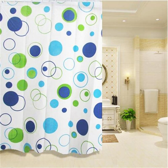 Shower Curtain Geometric Patterns Flowers Of Bathroom Drape