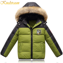 Kindstraum 2016 New Winter Boys 3 Colors Duck Down Sport Coat Fashion Outwear Hoodies Jacket Warm Casual Children Clothing,MC106