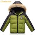 Kindstraum 2016 meninos novos de inverno 3 cores pato esporte para baixo casaco fashion outwear hoodies jacket quente casual roupa das crianças, mc106