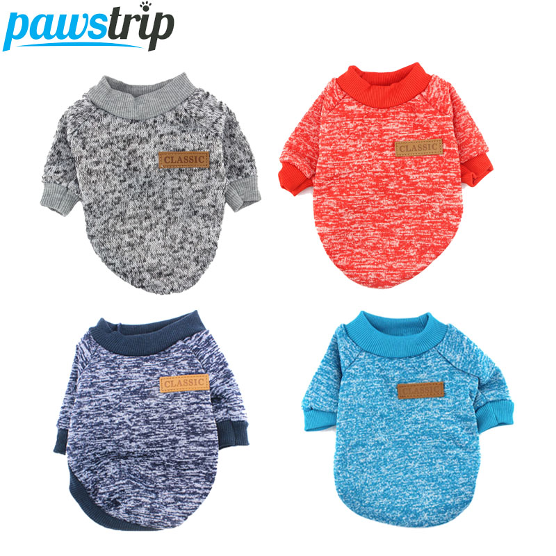 XS-2XL Vintervarme Hundeklæder Puppy Jacket Coat Soft Dog Shirts Pet Hundedragter Puppy Sweater For Chihuahua Yorkie 10 Farver