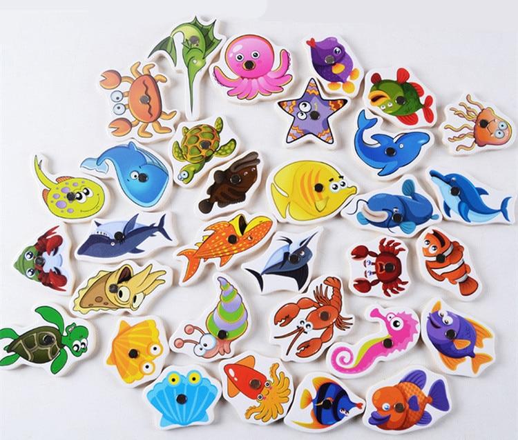Juguetes Educativos para bebés 32 Unids Fish Juego de Pesca - Deportes y aire libre - foto 2
