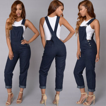 Jumpsuit Fashion Women Denim Jeans2