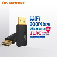 COMFAST AC 2.4G 150mbps + 5.8G 433mbps USB WiFi antenna Network Card Wireless Wi fi Adapter Mini PC WiFi adapter 2PCS CF-913AC