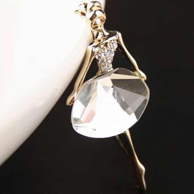 LNRRABC בנות אופנה טרנדי מקסים יפה נסיכת בלרינה סיכת בלינג קריסטל סיכות תכשיטי אבזרים