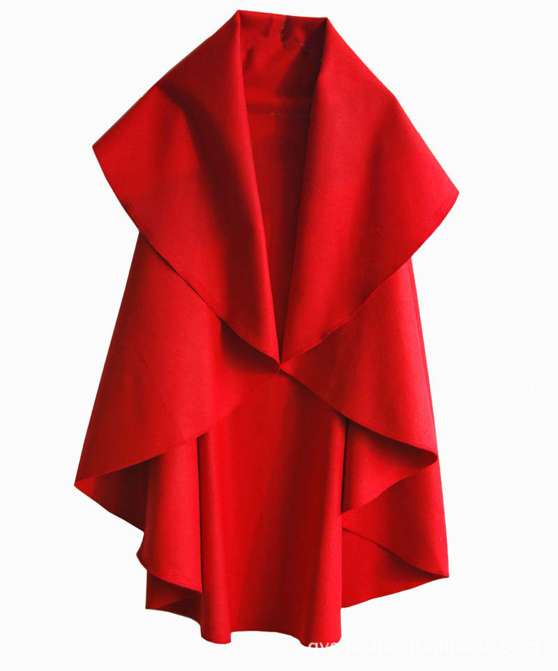 Women's Fashion Long Wool Winter Coats Noble Elegant Cape Shawl Poncho Wrap Scarves Spring Autumn Ladies   Trench   Coat