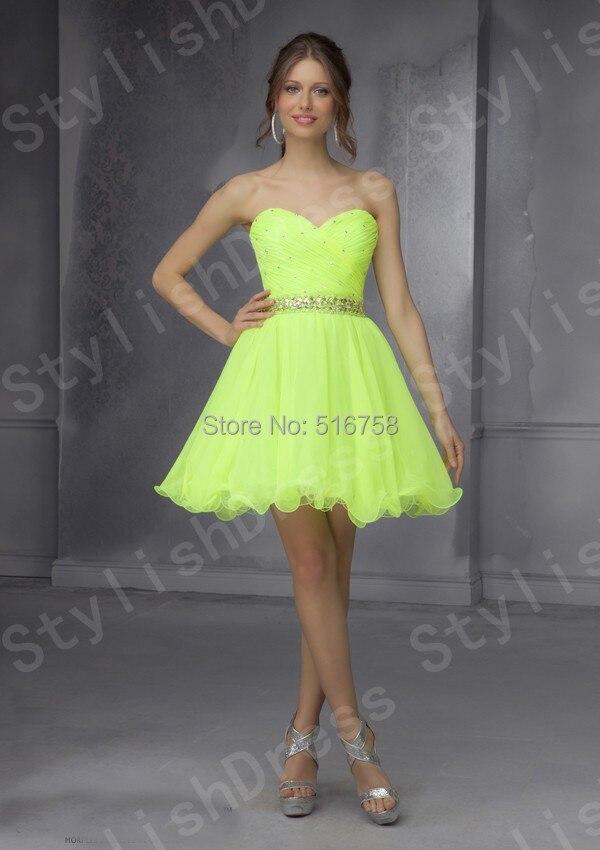 Vestidos neon cortos
