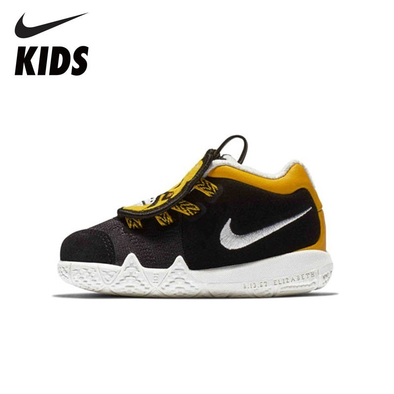 NIKE Kids KYRIE 4 LB (TD) New Arrival Winter Keep-Warm Velvet Sneakers For Kids Running Sports Shoes Toddler AT5708-001 semyon bychkov giuseppe verdi otello blu ray